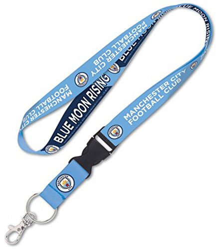 English Premier League Football (English Premier League Manchester City Football Club Combo Pack, 1 Lanyard and 1 Key Strap Key Chain, blue)