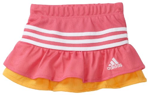 adidas Baby Girls' 3 Spins Mesh Skort, Bright Pink, 24 Months