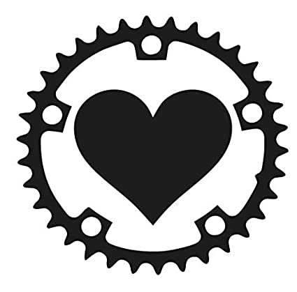 Amazon Com Sixtytwo24 Heart Bicycle Crank 5 Decal Sticker
