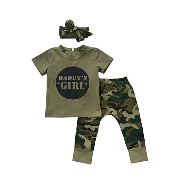 Kerrian Online Fashions 41nY81-wVNL 2 Styles Baby Boy Girl Camouflage Short Sleeve T-Shirt Tops+Green Long Pants Outfit Casual Outfit