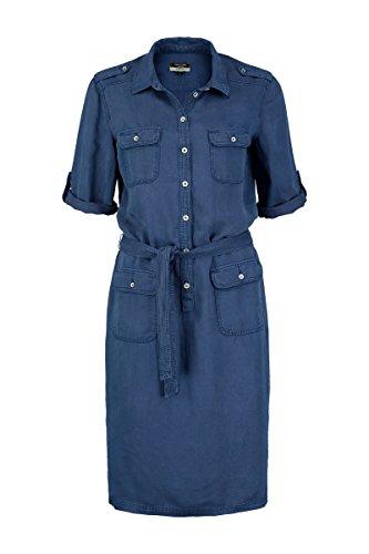 Lyocel Fit mit Sträter Loose Damen Kleid Blue Gürtel Claudia twWIq1Hxq
