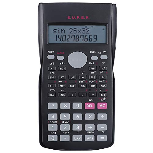Hautoco Scientific Calculator 2 Line Multifunctional Calculator- 12 Digits Display- 240 Functions- Replay Function for High School University College Engineering Accounting Trigonometry Office