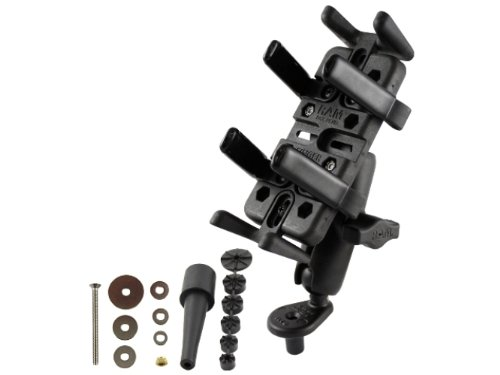 RAM MOUNTS (RAM-B-176-UN4U Fork Stem Mount with Universal Finger-Grip Phone/Radio Holder