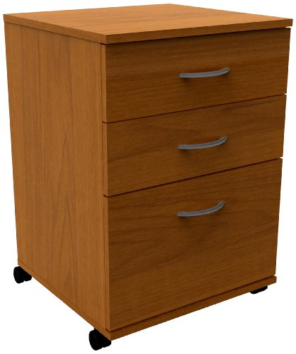 - Essentials 3-Drawer Mobile Filing Cabinet 8092 from Nexera, Cappuccino