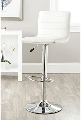 Safavieh Home Collection Arissa White Adjustable Swivel Gas Lift 23.8-29.9-inch Bar Stool