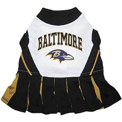 Baltimore Ravens NFL Cheerleader Dress For Dogs - Size Medium
