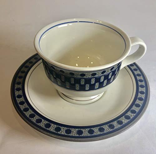 Mikasa Aztec Blue Tea Saucer (only 1 left) -
