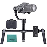 Zhiyun Crane 3 Axis Stabilizer Handheld Gimbal with zhiyun ZW-B02 Dual Handheld Grip for Sony A7 Series for Panasonic Lumix Series for Canon M Series for Nikon J Series Mirrorless Cameras ILDC Cameras