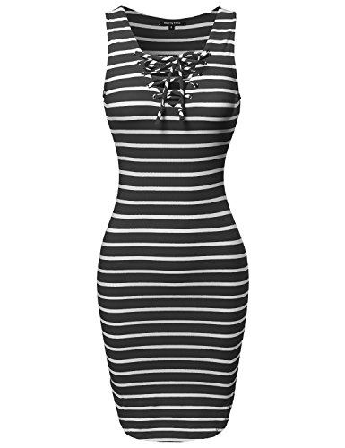 New Black White Dress - 9