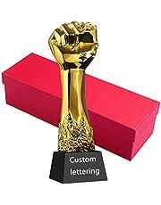 Met hars vergulde trofee Creatieve aangepaste trofee Bedrijfsprijs trofee Eerste kampioenschapsprijzen Gratis belettering trofee Geschenkpakket