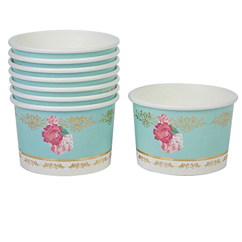 Neviti Eternal Rose Tubs, Turquoise, Pack Of 8 Dazzle Tub