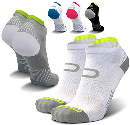 Compression Running Socks for Men & Women - Low Cut Athletic Ankle Socks (2 Pairs) ()