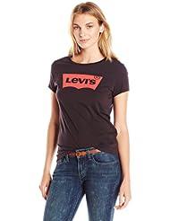 美亚:凑单新低价,Levi's李维斯 Slim Crew Neck Tee Shirt 女士大logo短袖T恤