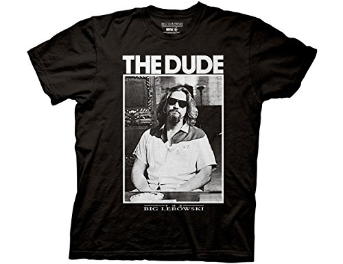 Ripple Junction Big Lebowski Dude Photo Adult T-Shirt 3XL Black