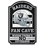 Oakland Raiders Wood Sign - 11in x 17in Fan Cave Design