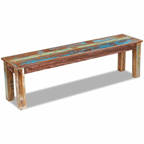 Patio Entry Bench Solid Reclaimed Wood Living Room Rectangle Footstool With Size:63