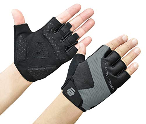 Fit Active Max Grip Weightlifting Workout Gloves   Strongest Grip, Leather Palm for Callus, Blister Prevention   Lightweight, Breathable, Non Slip   Powerlifting, Fitness Training, Biking & More (Wheelchair Gloves Leather)