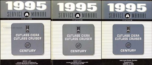 1995 Olds Cutlass Ciera/Cruiser Buick Century Repair Shop Manual w/ABS Supp
