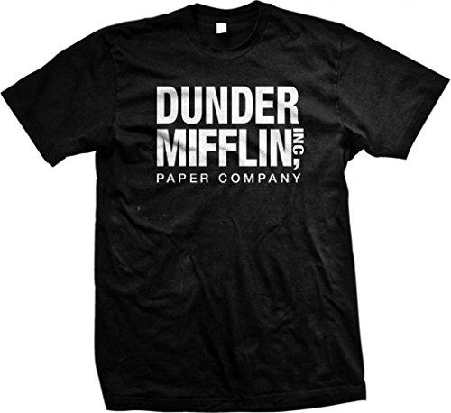 Dunder Mifflin Paper Inc T-Shirt, The Office T-Shirts, TV Show T-Shirts, Black, - Tee Black Show T-shirt