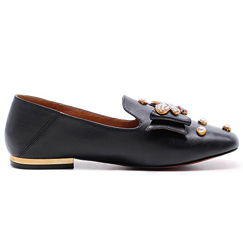 Nine Seven Genuine Leather Women's Round Toe Flat Cozy Handmade Loafers Pumps Black free shipping ebay shop for cheap online quality free shipping low price shop for for sale buy cheap deals z6nIvdZE
