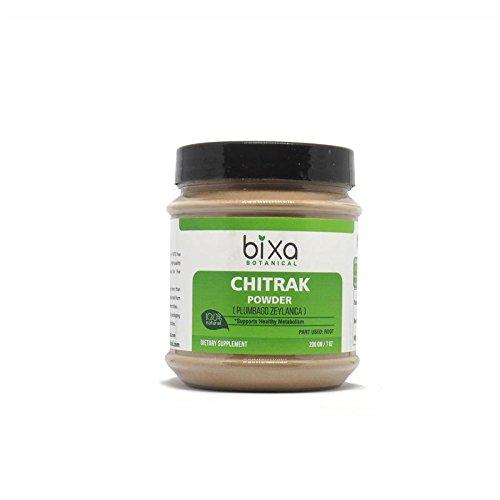 Chitrak Root Powder (Plumbago zeylanica), Supports Healthy Metabolism by Bixa Botanical - 7 Oz (200g)