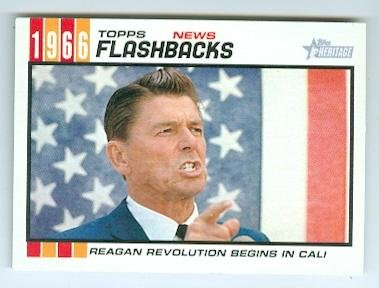Ronald Reagan trading card (President of the United States) 2015 Topps Heritage #NF6 1966 California Campaign