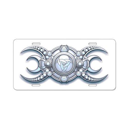 (CafePress - Ornate Wiccan Triple Goddess Aluminum License Plat - Aluminum License Plate, Front License Plate, Vanity Tag)