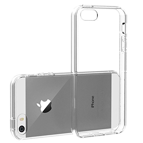 iPhone SE Case, Asstar Ultra Slim Breif Crystal Clear Case Scratch Resistant Defender Protective Flexible Transparent Soft TPU Shock Absorb Bumper for Apple iPhone 5S/SE/5 (Se Clear)