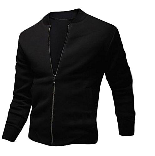 Black Stand GRMO Lightweight Patchwork Men Collar Jacket Coat Zipper 8wRq1