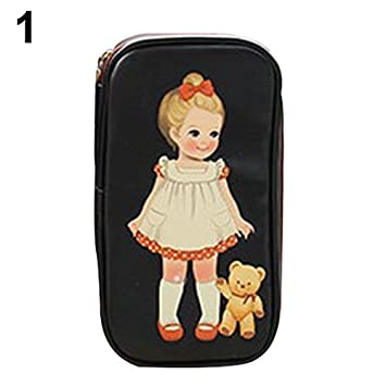 b267d7ed2722 Amazon.com : gainvictorlf Makeup Bag Women Cute Cartoon Doll Girl ...