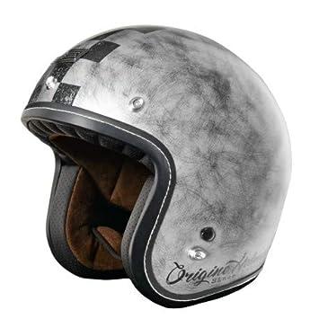 Origine - Primo Scacco - Casco de moto jet Cafè Racer XS Silver Matt