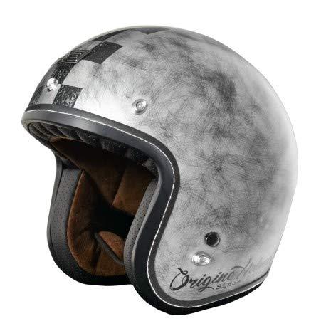 Primo Scacco Casco de moto jet Caf/è Racer XL Bronze Matt Origine