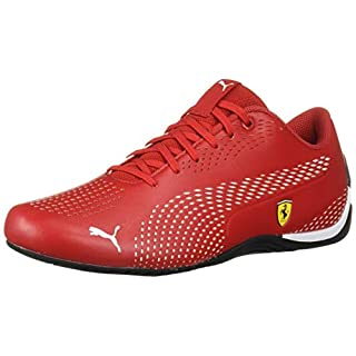 PUMA Ferrari Drift CAT 5 Ultra Sneaker, Rosso Corsa White, 9.5 M US