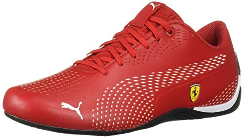 PUMA Ferrari Drift CAT 5 Ultra Sneaker, Rosso Corsa White, 7.5 M US