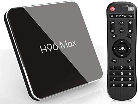 Android 8.1 Smart TV Box, H96 MAX X2 4GB RAM y 64GB ROM TV Box con Amlogic S905X2 Quad-Core, Soporte 2.4G/5.8G Dual WiFi BT4.0 HDMI2.1 USB3.0: Amazon.es: Electrónica