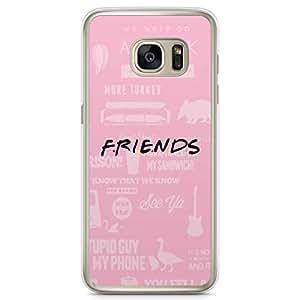 Samsung Galaxy S7 Edge Transparent Edge Case Friends