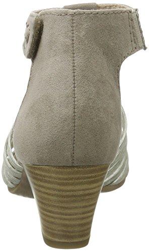 Jana 28330, Sandalias de Tacón Mujer Beige (Lt Taupe Comb. 348)