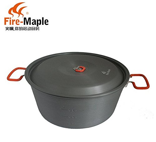 Fire Maple Large Capacity Outdoor Aluminum Pot Camping Soup Pot 4.4L by Fire-Maple