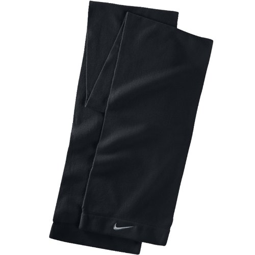 Nike Fleece Scarf (Black/White,One Size Fits Most)