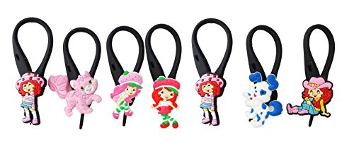 [AVIRGO 7 pcs Soft Zipper Pull Charms for Backpack Bag Pendant Jacket Set # 101-3] (Cherry Apple Costumes)