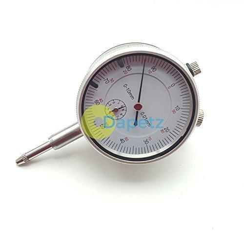 Dapetz ® Dial Test Indicator DTI Guage Clock Gauge 0-10MM Precision Outer Measuring Metric Test Dial Gauge