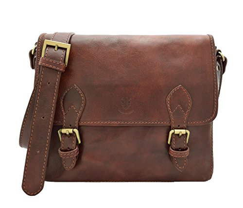 - DeFeliceBags Leather Messenger bag Genova - Genuine cowhide leather - Dimensions in cm: 30 x 36 x 13