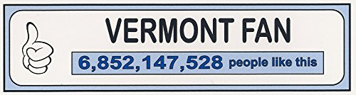 Funny Refrigerator Magnet.VERMONT FAN.FREE SHIPPING ON THIS ITEM.THUMBS UP. This flexible magnet is available for quick shipping. Two different sizes. Great Item.