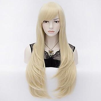 hjl-capelli europeos de modo de estilo pelucas sintéticas rubia alta calidad af8283182f34