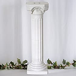 "Efavormart 4 Pillars/Set 3ft Tall Roman Decorative Wedding Party Columns PVC Pillars 36"" Height (Adjustable)"