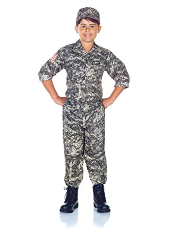 Underwraps Children's Army Camo Set Costume - Camouflage, Large (10-12)