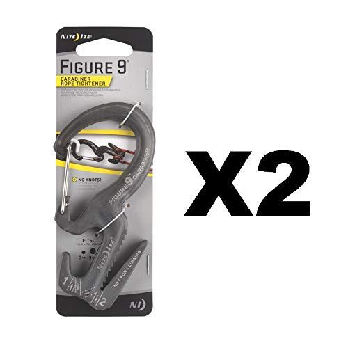 - Nite Ize Figure 9 Carabiner Large Rope Tightener Aluminum Tie Down Tool (2-Pack)