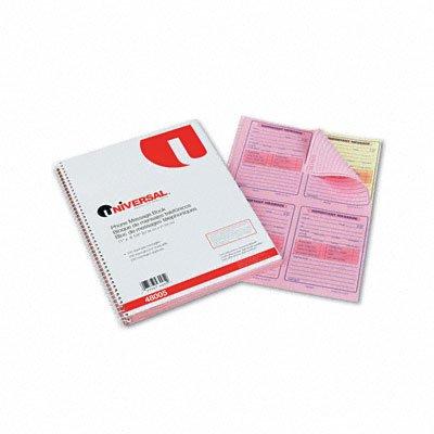 UNV48005 - Universal Wirebound Message Books