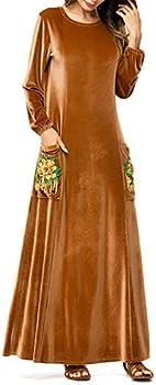 Zhhlaixing Arab Islamic Women Robe Dress Kaftan Church