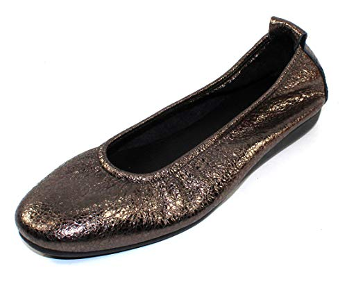 Arche Women's Laius in Stella Souan Metallic Crackle Leather - Silver - Size 38 M ()